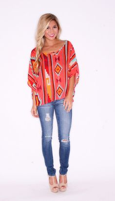 Keep It Breezy Coral $26.00...could totally work for fall too with a scarf, dark skinnies, and boots!
