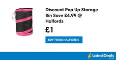 Discount Pop Up Storage Bin Save £4.99 @ Halfords, £1 at Halfords