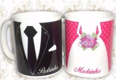 Canecas Personalizadas Padrinhos Casamento - R$ 11,99
