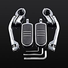 Bike Pegs - 2X Chrome 125 Adjustable Highway Long Angled Mount  StreamLiner Foot Pegs Set For Harley Touring *** Check out the image by visiting the link.