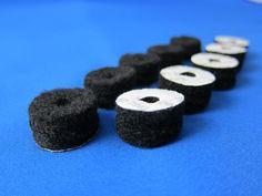 10pcs Thick Felt Adhesive Circles with Holes Felt Dots Round Felt Pads DIY   eBay US $4.9