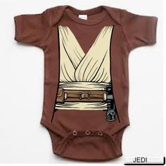 Jedi Obiwan Onesie Star Wars baby infant bodysuit- LOL. Juliet could totally be a Jedi next year. Ha ha