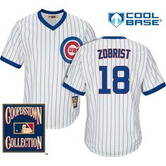 10fbd8de3 Ben Zobrist Chicago Cubs 1968-69 Cooperstown Jersey by Majestic