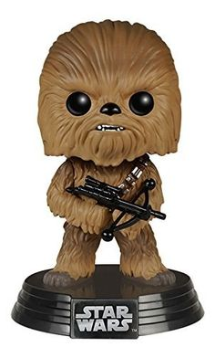 This Chewbacca Pop! figure turns Chewbacca from Star Wars The Force Awakens into a cute bobblehead figure. Must have Chewbacca collectible figure for fans! Star Wars Figurines, Figurines Funko Pop, Star Wars Vii, Star Wars Darth, Star Trek, Darth Maul, Star Wars Collection, Pop Collection, Men In Black
