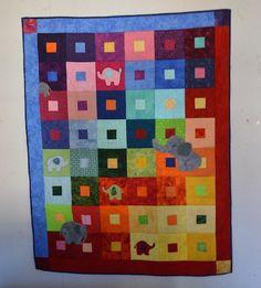 Regenbogen-Wunsch-Quilt für die Enkeltochter