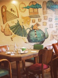 Le Loir dans la Théière. Managed to track down this themed cafe in Paris with fantastic tarts.