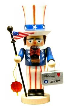 SIGNED Chubby Patriotic Uncle Sam Nutcracker -- You can get more details by clicking on the image.