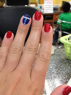 Marine Corps inspired nails simple yet classy