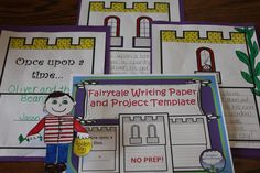 Writing fairytales or fractured fairytales?  This template is a great way to display a published piece.  Children can add their own details to the castle pictures.