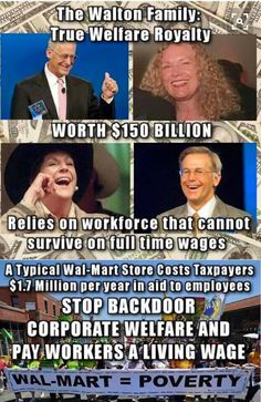 The corporations are screwing the country not the poor