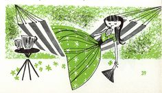 Good Housekeeping's Summertime Cook Book (1958) | Illustrator: Lou Peters.