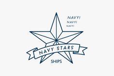 SHIPS NAVY STARS   creative studi ouwn