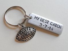 This listing is for one keychain. Customize this keychain tag with a short saying and date of significance to you. I can stamp MY BEST CATCH or A