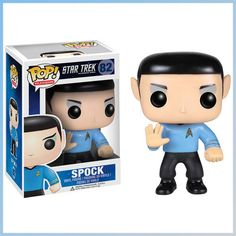 """Funko POP Star Trek: Spock Action Figure: This awesome Star Trek POP! Vinyl Figure featuring Spock stands 3 Inch tall and is perfect for fans and collectors. """"Live long and prosper"""" and don't miss out on our other Star Trek POP! Star Trek Spock, Star Wars, Pop Vinyl Figures, Hades, Mirror Universe, Funko Pop Dolls, Funko Toys, Star Trek Episodes, Star Trek Captains"""