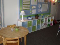 Decorating a Classroom Look at the quilt.  The quilt absorbs sounds, especially in acoustically hard surfaces.  Relaxing blues, greens, and whites. How about lamps? Fabric.   Child-level counters. …