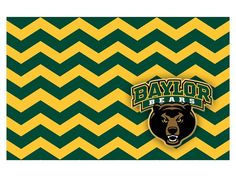 Love this pattern! // Disposable #Baylor chevron placemats