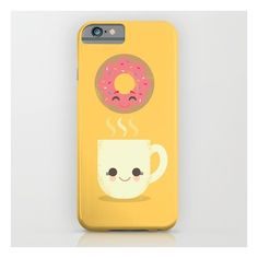 Coffee And Donut Buds iPhone & iPod Case ($35) ❤ liked on Polyvore featuring accessories, tech accessories and iphone & ipod cases