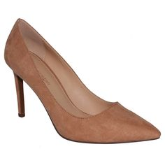 Women's Who What Wear Ally Microsuede Pumps - Tan 6.5