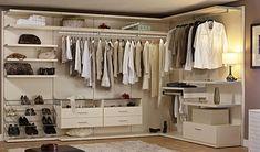 Contemporary Closet with Bella Kitchen Cabinets Elegance Supreme Closet, Built-in bookshelf, Hardwood floors, Closet system