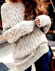 Oversized jumper. LOVE THIS!!!!!!