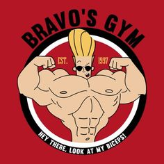 Cartoon Network: Johnny Bravo gym t-shirt. #cn #JohnnyBravo