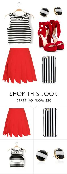 """Untitled #70"" by filippaelvira ❤ liked on Polyvore featuring Miu Miu, MICHAEL Michael Kors, Kate Spade and Jimmy Choo"