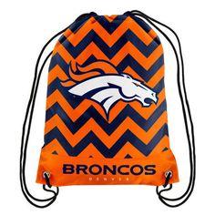 Denver #Broncos Chevron Drawstring Backpack from $12.99