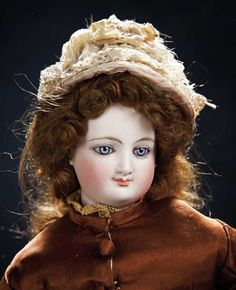 The Stein am Rhein Museum Collection: 119 French Bisque Deposed Poupee with Smiling Expression by Leon Casimir Bru