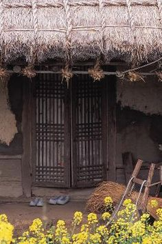 Front door of a traditional South Korean home
