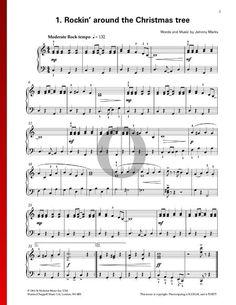 Rockin' Around The Christmas Tree by Johnny Marks. Check our Piano Sheet Music for Christmas www.oktav.com Piano Sheet Music, Flute, Special Occasion, Pdf, Christmas Tree, Songs, Traditional, Random, Holiday