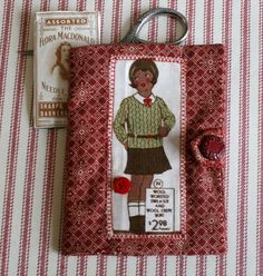 sewing needle book, vintage style £5.50