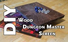 Playing D&D is more than just a game, it's an experience. I set out to make a custom, dare I say elegant, Dungeon Master screen. Tabletop Rpg, Tabletop Games, Game Master, Dungeon Master Screen, D Lab, Dm Screen, Dice Tower, Wooden Screen, Wooden Diy