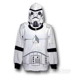 storm trooper zip up hoodie. Dig it.