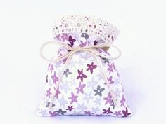 the Pink Blossom  Gift Bag  Drawstring Bag  Floral by CottnLove