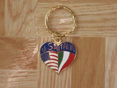 USA / Italy flag keychain