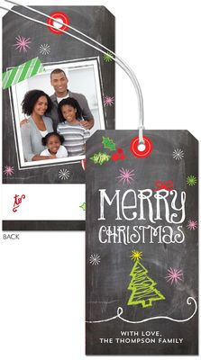 Chalkboard Photo Hanging Gift Tags