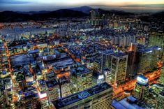 The Modern Architecture Of Asia - Seoul,South Korea Sunset Wallpaper, Widescreen Wallpaper, Wallpapers, Fotografia Hdr, Free Pictures, Cool Pictures, Seoul Skyline, Hdr Photography, Night City