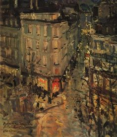 Paris.Boulevard des Capucines., 1906 by Konstantin Korovin. Impressionism. cityscape. Tretyakov Gallery, Moscow, Russia