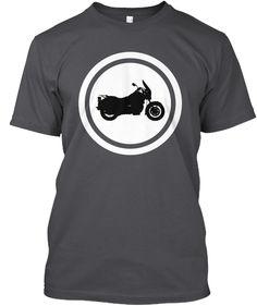 Italian Motorcycles   Moto Guzzi Cali Charcoal T-Shirt Front