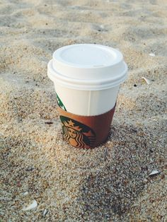 Starbucks on the beach = me each and every time.