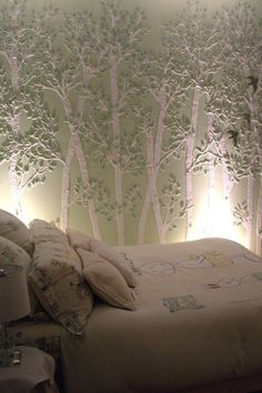 Just ordered this for the bedroom/bathroom - love it!! raised plaster stencil wall.