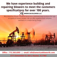 American Blower specialize in pumps repair and blowers  services and renewal.