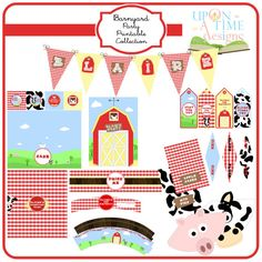 Party Printable Collection  Barn Yard Farm by UponATimeDesigns, $35.00