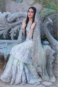 Pakistani Engagement Dresses, Pakistani Wedding Outfits, Indian Bridal Outfits, Pakistani Bridal Dresses, Pakistani Dress Design, Walima Dress, Shadi Dresses, Indian Gowns Dresses, Asian Bridal Dresses