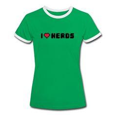 Tee shirt I Love (heart) Nerds / Cool Geek Statement /slogan #cloth #cute #kids# #funny #hipster #nerd #geek #awesome #gift #shop Thanks.