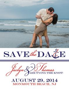 SAVE THE DATE Magnet or Postcard Nautical by BoardwalkBridal ...