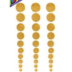 Gold Glitter Hanging Dot Decorations | Hobby Lobby