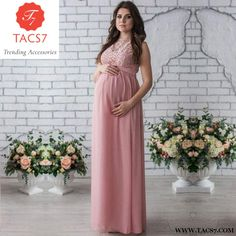 3fb1afc9160 Melario Maternity Dress 2018 Pregnancy Clothes Pregnant Women Lady Elegant  Vestidos Lace Party Formal Evening Pink