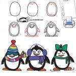 Für Tuxfreunde und für das Training der Serialität: How to draw a penguin in 6 easy steps