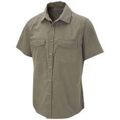 Men's Sun Protective Travel Trekker Shirt, Short Sleeve, Pebble